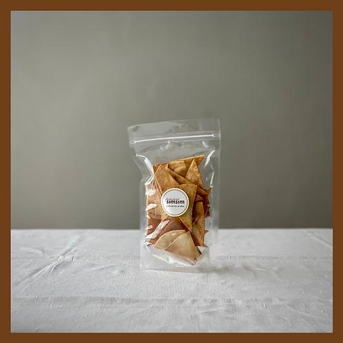 Torradas de pão Sírio