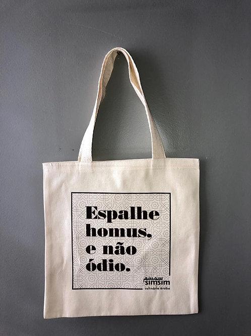 Eco-bag Espalhe Homus e não ódio