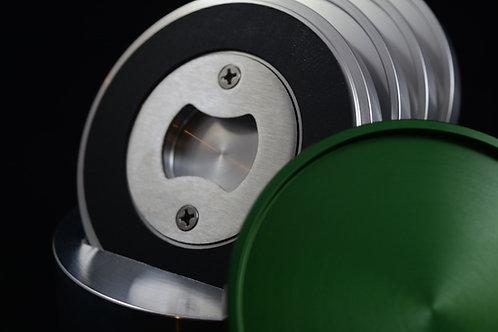 'Coapener' Coaster - Green