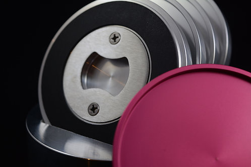 'Coapener' Coaster - Pink