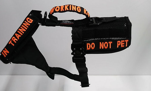 """Intermediate 1"""" Tactical Harness -fits large pups- great for small dogs"""