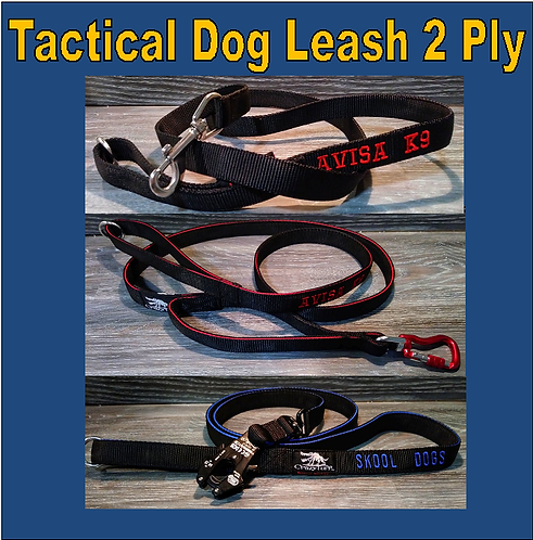 Double Handle 2-Ply Tactical Lead / Leash - Custom Made to order