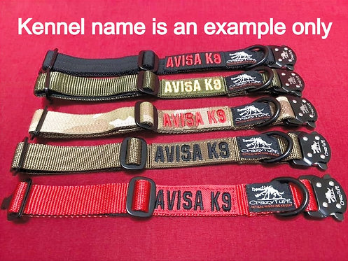 """1"""" Wide Tactical Collar  (perfect for Medium size dogs or Large Breed Pups)"""