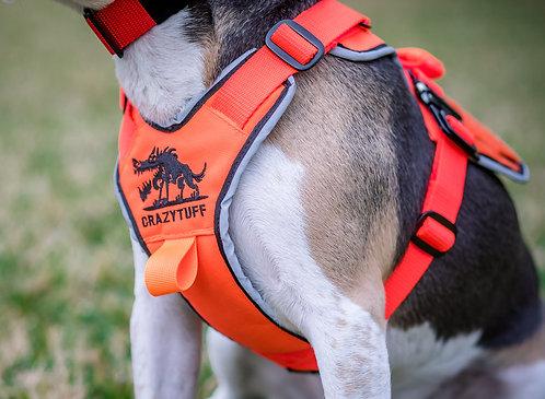 Small Breed SAR Harness - Blaze Orange