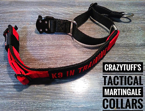 """Tactical Martingale Dog Collar 1.5"""" wide - With Free Id Patch"""
