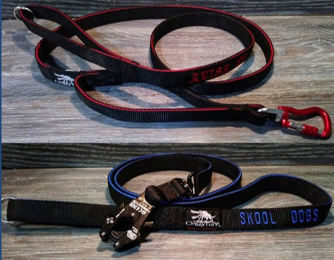 Double Handle 3-Ply Tactical Lead / Leash w. FROG Snap - Custom Made to order