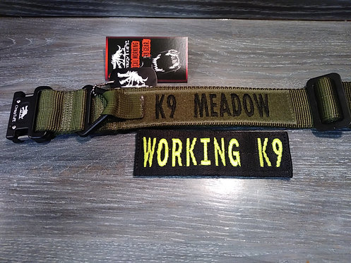 """Tru-Tactical Dog Collar 1.75"""" w.  Velcro ID Patch - Two-Ply webbing"""