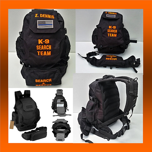 Search +Rescue K9 Handler's Backpack