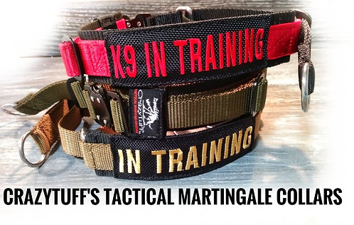 "Tactical Martingale Dog Collar 1.75"" wide"