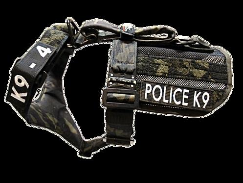2-Point K9 Patrol/Training Harness w. Removable ID Apron