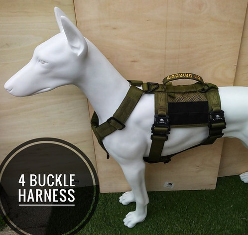 4-Point K9 Patrol,  Adult Dog Tracking and Training Harness