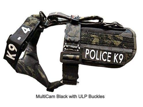 2-Point K9 Patrol/Training Harness w. Non-Removable ID Apron