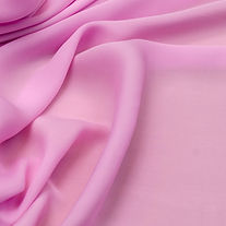 Crepe de Chine silk fabric of pink color