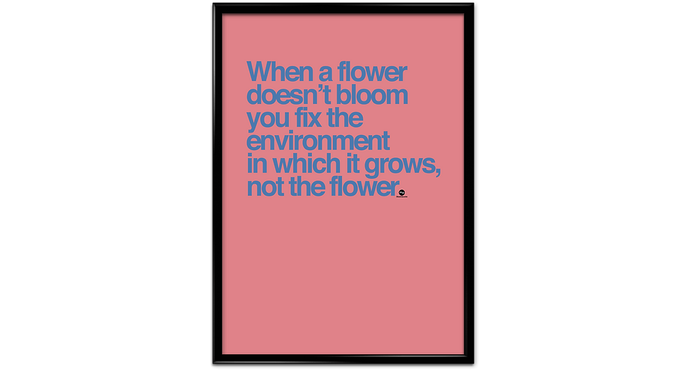 When a flower doesnt bloom - plakat