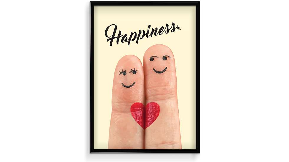 Happiness fingre - plakat