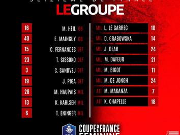 CDFF 🏆 Le groupe pour affronter Paris !