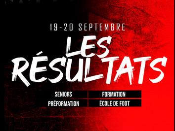 CLUB : Les résultats (19-20/09)
