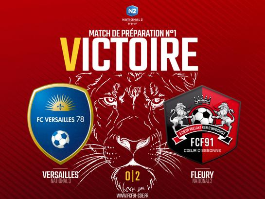 N2. Victoire à Versailles (amical)