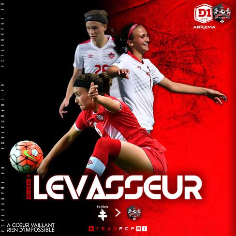 🔴 D1 Arkema : Marie Levasseur s'engage au FCF91