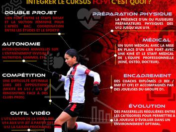 Séction féminine : Le descriptif de formation