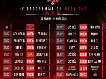 CLUB. L'agenda du week-end (29/01-01/03)