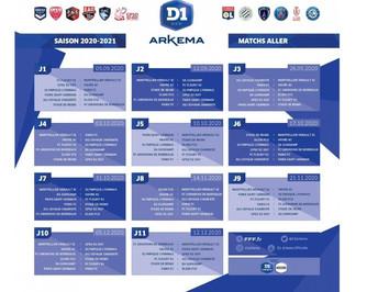 D1 ARKEMA 2020/2021 : Le calendrier