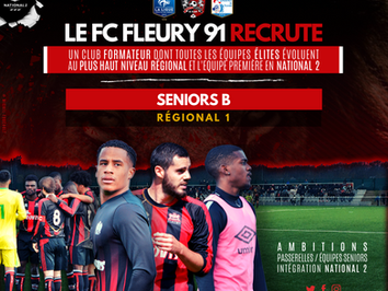 LE FC FLEURY 91 RECRUTE