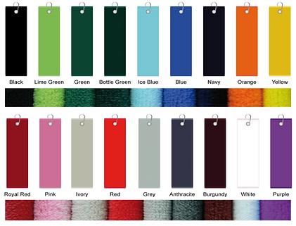 serviettes towel logotées golf