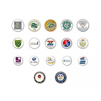 marque balle logoté golf matériel produit logo planete golf