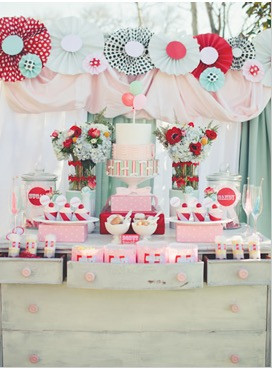 Pinwheels Dessert Table