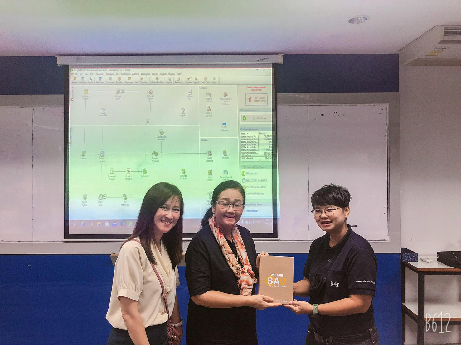 NAT provided QuickBooks Accounting Software workshop at Southeast Asia University Bangkok 20201029