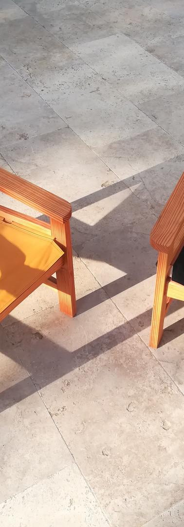 Chaise en douglas