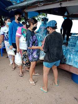 NAT Phuket Branch donates 200 dozen drinking water to Chao Lay Rawai community