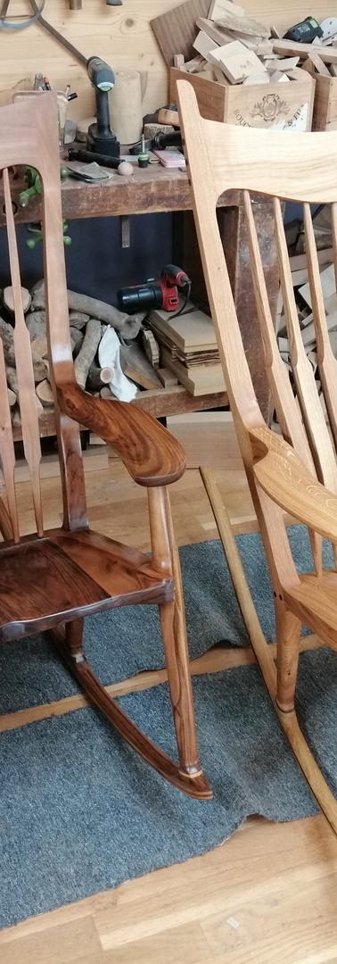Rocking chairs Noyer, chéne