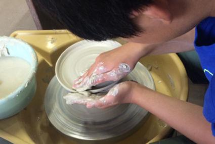 陶芸教室はる陶房夏休みこども陶芸