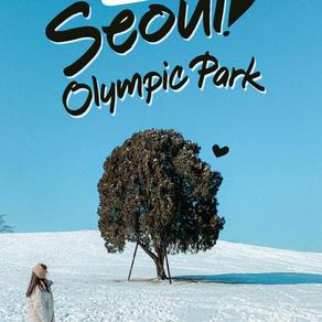 ถ่ายรูปคู่ต้นไม้ที่ Seoul Olympic Park
