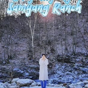 ภูเขาและกังหันลมที่ปกคลุมไปด้วยหิมะที่ Daegwallyeong Samyang Ranch