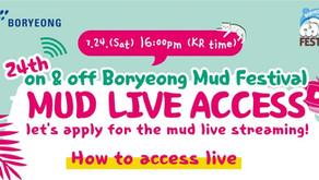 เทศกาลสาดโคลน On&Off Boryeong Mud Festival 2021