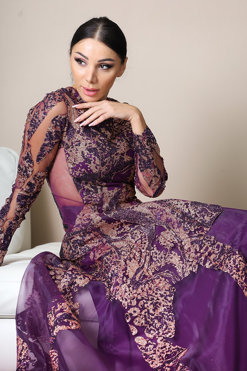 SANDRA Violet Gown
