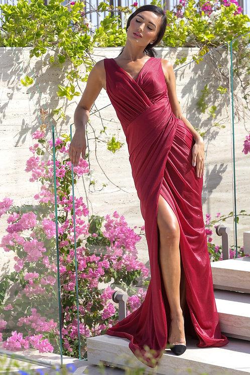 CATSY Burgundy Dress