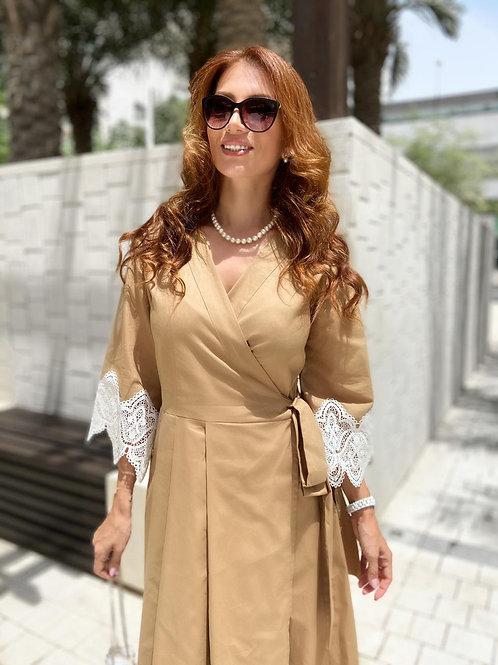 CAPPUCINO Wrap Dress