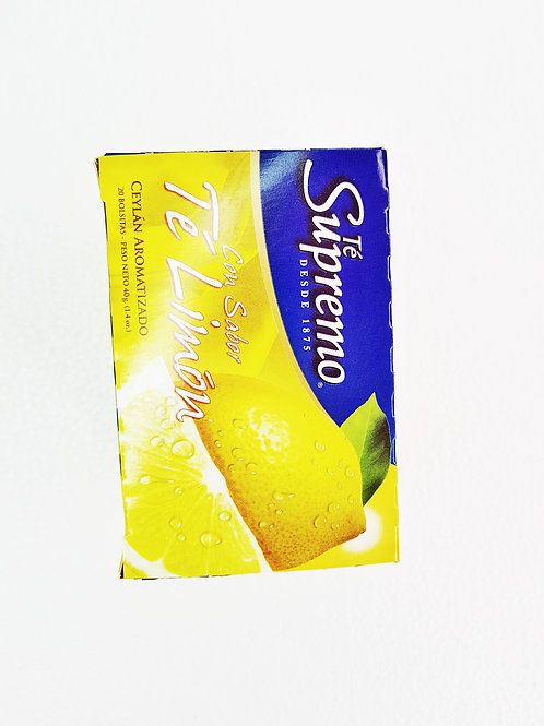 Té negro supremo limón caja x 20s