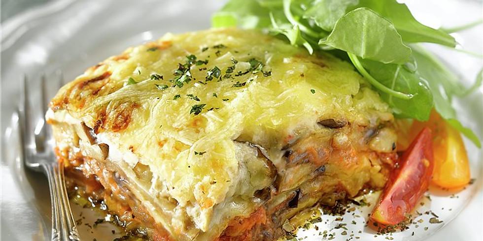 Moussaka de Zucchini y Trucha Ahumada