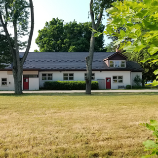 The Parish Hall, viewed from across The Green.