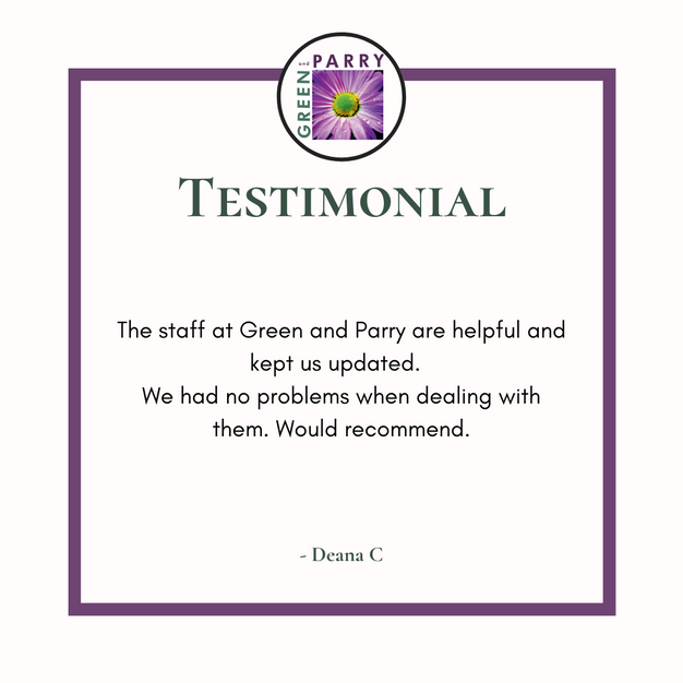Client 5 star review for Green and Parry Estate Agent and Lettings
