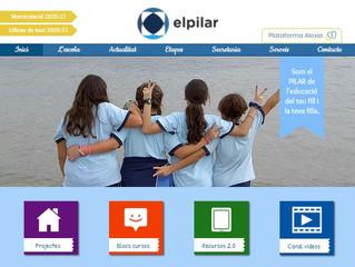 """Web de centre educatiu """"El Pilar"""""""