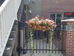 Patio Flowers at Park Side Pub
