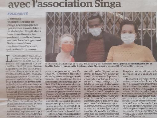 J'accueille est dans la presse - La Marseillaise Occitanie