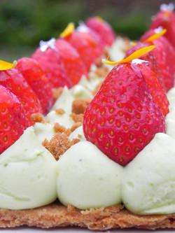 dessert fraise Gilher traiteur