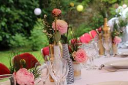 détail fleurs table de mariage